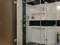 Ajtonyi Rita lakberendező belsőépítész referencia fotói | Olasz bútorokkal - Modern fürdő Villeroy&Boch zuhanyzóval