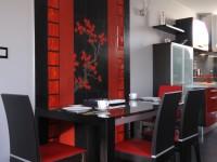 Ajtonyi Rita lakberendező belsőépítész referencia fotói | Vörös és fekete - Modern étkező