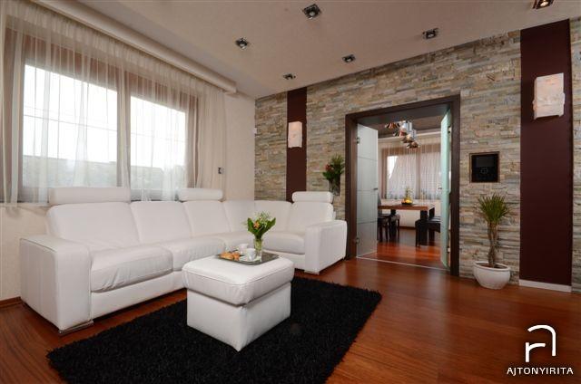 Merano és fekete – Modern nappali és étkező  Ajtonyi Rita