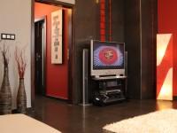 Ajtonyi Rita lakberendező belsőépítész referencia fotói | Vörös és fekete - Modern nappali
