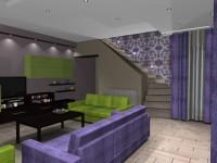 Látványtervek - Modern nappali