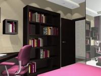 Látványtervek - Modern leányszoba