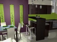Látványtervek - Modern konyha és étkező