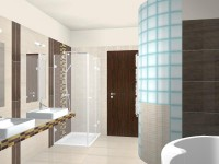 Látványtervek - Modern fürdő