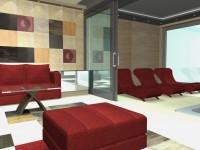 Látványtervek - Modern vendégház: Nappali és pihenő