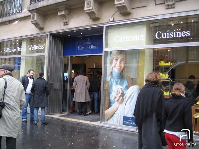 Párizs : Villeroy & Boch bemutató terem Fotó az üzlet portáljáról
