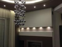 ledes világítás modern nappaliban